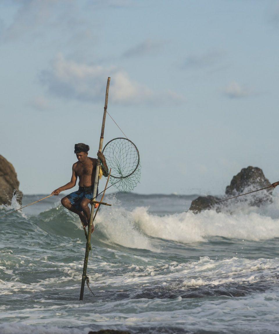 Sri Lanka, Galle, stilt fishermen
